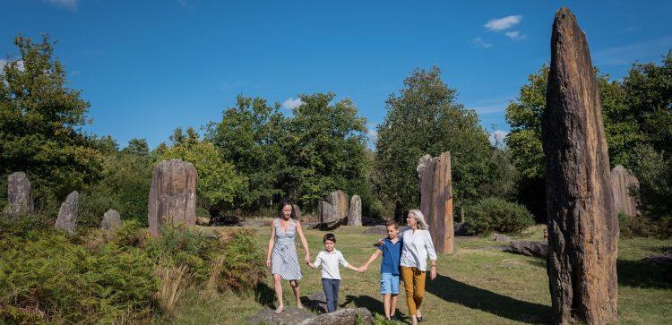 Menhirs Monteneuf, site des Pierres Droites